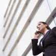 Businesswoman talking on cell phone — Stock Photo #4759944