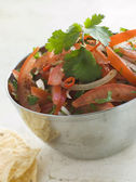 Dish of Tomato Red Onion and Coriander Relish — Stock Photo