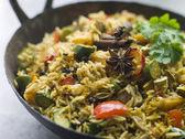 Vegetable Biryani in a Large Karahi — Stock Photo