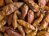 Dried Birds Eye Chilies — Stock Photo