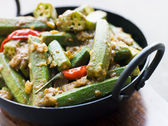 Karahi Dish with Bhindi Masala — Stock Photo