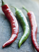 Red and Green Chillies — Stock Photo
