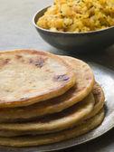 Aloo stuffed Parathas — Stock Photo