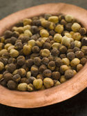 Dish of Roasted Salted Chickpeas — Stok fotoğraf