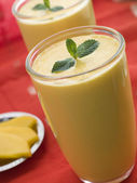 Glasses of Mango Lassi — Stock Photo