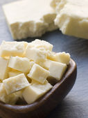 Pieces of Paneer Cheese — Stock Photo