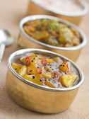 Mango Chutney with Lime Pickle and Raita — Stock Photo