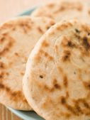 Plate of Plain Naan Breads — Stock Photo