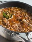 Ragu Sauce in a Saucepan — Stock Photo