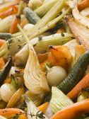 Honey and Thyme Roasted Baby Vegetables — Stock Photo