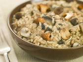 Bowl of Wild Mushroom Risotto — Stock Photo