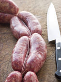 Tuscan sausage in Links — Stock Photo