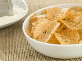 Dish of Parmesan Crisps — Stock Photo