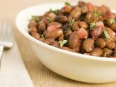 Borlotti Beans Braised in Red Wine — Stock Photo