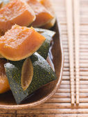 Sweet Soy simmered Pumpkin — Stock Photo