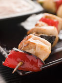 Yakitori Skewer with Sukiyaki Sauce — Stock Photo