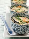 Creme salate al vapore su un piatto — Foto Stock