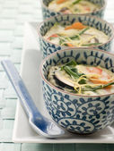 Steamed savoury Custards on a Plate — ストック写真
