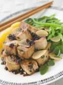 Fried Tofu With Caramelised sauce — Stock Photo