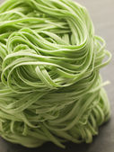 Stack of Spinach Noodles — Stock Photo