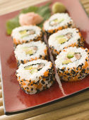 Inside-out Sushi Rolls — Stock Photo