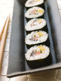 Large Spiral Rolled Sushi — Stock Photo