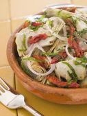 Marinated Baby Artichokes Tomato Vinaigrette — Stock Photo