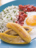 Cuban-Style Rice — Stock Photo