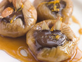 Dried Figs and Chocolate- Higos Rellenos — Stock Photo