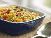 Braised Saffron Rice with Dried Fruits — Stock Photo