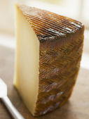 Wedge of Manchego Cheese — Stock Photo