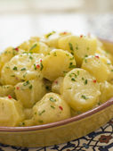 Potato Salad with Chili Coriander and Allioli — Stock Photo