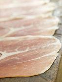 Slices of Serano Ham — Stock Photo