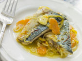 Plate of Sardine Escabeche — Stock Photo