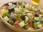 Tazón de fuente de ensalada Valenciana — Foto de Stock