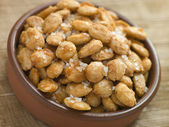 Spiced and Salted Macadamia Nuts — Stock Photo