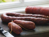 Selection of Spanish Sausages — Stock Photo