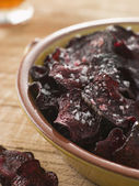 Beetroot Crisps with Sea Salt — Stock Photo
