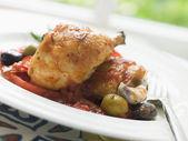 Chicken Chilindron- Pollo al Chilindron — Stock Photo