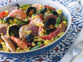 Bowl of Paella — Stock Photo