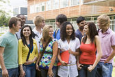 Group of college students on campus — Stock Photo