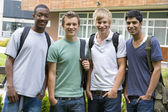 Male college friends on campus — Stockfoto