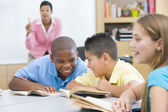 Elementary school classroom — Stock Photo