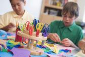 Elementary school art class — Stock Photo