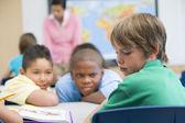 Boy being bullied in elementary school — Stok fotoğraf