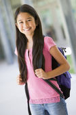 Elementary school pupil outside — Stock Photo