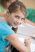 Female elementary school pupil — Stock Photo