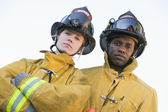 Portrait of firefighters — Stock Photo