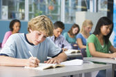Liseli liseli sınıfta — Stok fotoğraf