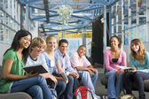 Schoolchildren in high school class — Stock Photo
